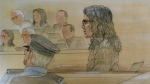 Rohinie Bisesar is seen appearing in a courtroom in this sketch from Oct. 29, 2018. (John Mantha)