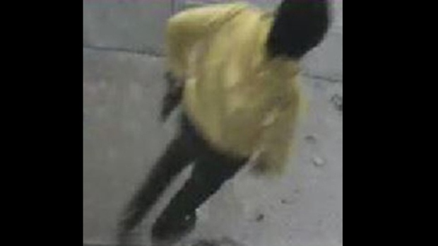 A suspect in a Nov. 1 shooting at Adelaide and Bathurst streets is seen in a surveillance camera image.