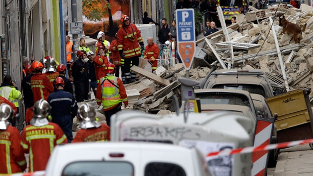 Searches under way after buildings collapse in Marseille