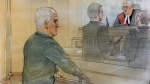 Bruce McArthur appears in court on Nov. 5, 2018 where a judge sets a judicial pre-trial date. (John Mantha)