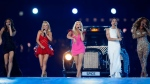 In this Sunday, Aug. 12, 2012 file photo, British band 'The Spice Girls' perform during the Closing Ceremony at the 2012 Summer Olympics, in London. (AP Photo/Matt Dunham, file)