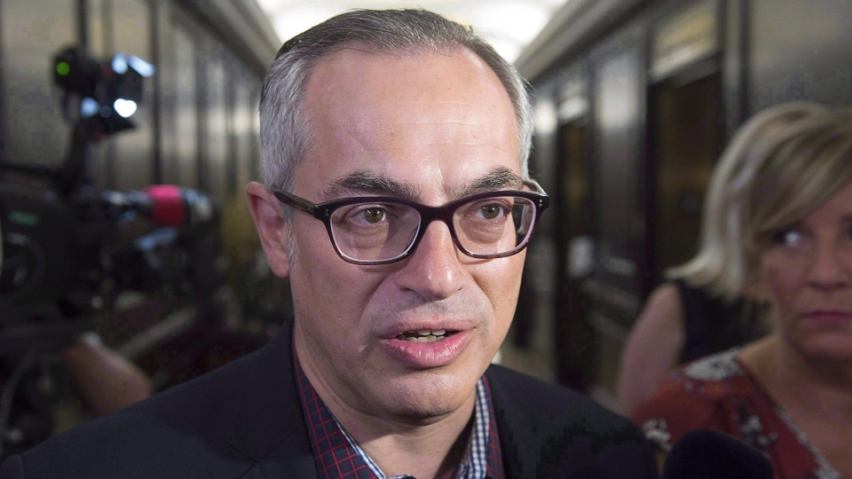 Tony Clement arrives at the national Conservative summer caucus retreat in Halifax on Tuesday, Sept. 13, 2016. THE CANADIAN PRESS/Andrew Vaughan