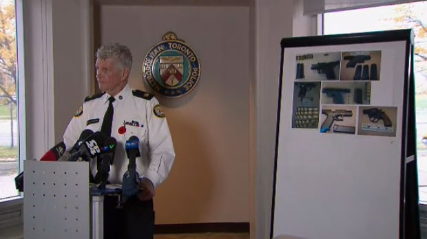 Toronto Police Supt. Ron Taverner holds a news conference to discuss gun violence in the northwest end of the city on Nov. 8, 2018.
