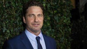 Gerard Butler poses for photographers upon arrival at the Charles Finch and Chanel pre Bafta party in London, Saturday, Feb. 17, 2018. (Photo by Vianney Le Caer/Invision/AP)
