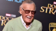 "In this Oct. 20, 2016 file photo, Stan Lee arrives at the premiere of ""Doctor Strange"" in Los Angeles.  (Photo by Jordan Strauss/Invision/AP, File)"