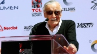 Stan Lee speaks at his hand and footprint ceremony at the TCL Chinese Theatre on Tuesday, July 18, 2017, in Los Angeles. (Photo by Willy Sanjuan/Invision/AP)