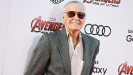"""Stan Lee arrives at the Los Angeles premiere of """"Avengers: Age Of Ultron"""" at the Dolby Theatre on Monday, April 13, 2015. (Photo by Jordan Strauss/Invision/AP)"""