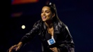 YouTube star Lilly Singh speaks during the We Day event in Toronto on Thursday, Sept. 20, 2018. Singh says she's taking a break from the platform to focus on her mental health.THE CANADIAN PRESS/Christopher Katsarov