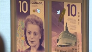 The new $10 banknote featuring Viola Desmond is unveiled.