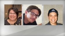 (left to right) Melissa Trudy Miller, Alan Grant Porter and Michael Shane Jamieson are pictured in this composite image of photos released by Ontario Provincial Police Thursday November 15, 2018. All three were found dead in a private field in the municipality of Middlesex Centre, Ont. on Nov, 4, 2018. (Handout /OPP)