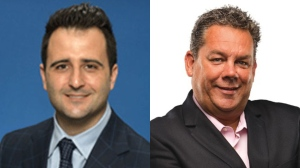 Justin Di Ciano (left) and Mark Grimes (right) are seen in these photos.