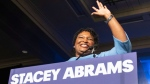 In this Tuesday, Nov. 6, 2018 file photo, Georgia Democratic gubernatorial candidate Stacey Abrams speaks to supporters during an election night watch party in Atlanta. (AP Photo/John Amis)