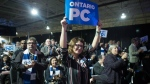 Ontario PC supporters cheer as Premier Doug Ford addresses the Ontario PC Convention in Toronto, on Friday November 16 , 2018. THE CANADIAN PRESS/Chris Young