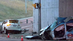 One man is dead following a crash in Ajax on Monday morning.