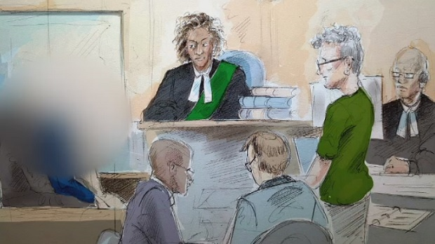 Three boys are seen in this court sketch appearing on charges connected to alleged assaults at St. Michael's College School. (Alexandra Newbould)