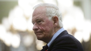 Former governor general David Johnston appears before a Commons committee reviewing his nomination as elections debates commissioner on Parliament Hill in Ottawa on Tuesday, Nov. 6, 2018. THE CANADIAN PRESS/Sean Kilpatrick