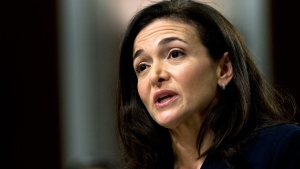 In this Sept. 5, 2018, file photo Facebook COO Sheryl Sandberg testifies before the Senate Intelligence Committee hearing on 'Foreign Influence Operations and Their Use of Social Media Platforms' on Capitol Hill in Washington. (AP Photo/Jose Luis Magana, File)