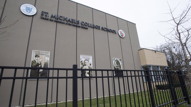St. Michael's College School is shown in Toronto on Thursday, November 15, 2018. THE CANADIAN PRESS/Frank Gunn
