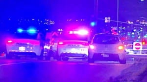 One person is in hospital after shots were fired at a vehicle in Brampton.