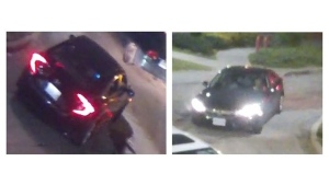 A security camera image of a vehicle of interest being sought in connection with a June 10, 2018 shooting near Jane Street and Driftwood Avenue is pictured. (Handout / Toronto police)