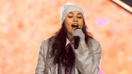 Alessia Cara performs during the half time show at the 106th Grey Cup between the Calgary Stampeders and the Ottawa Redblacks in Edmonton, Alta. Sunday, Nov. 25, 2018. THE CANADIAN PRESS/Jason Franson