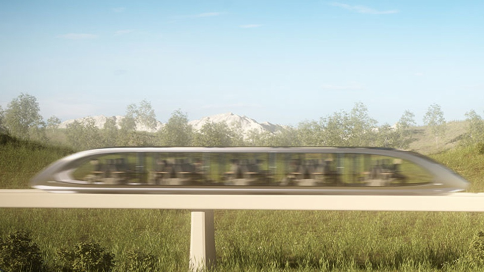 A magnetic levitation train is pictured in this artist's rendering. (Magnovate Transportation Inc.)