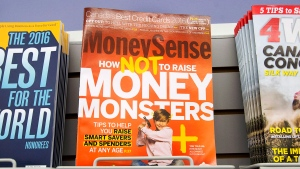 MoneySense magazine is seen at a retail outlet in Halifax on Friday, Sept. 30, 2016. Rogers Communications says it will stop publishing print editions of four magazines as of January and Flare, Sportsnet, MoneySense and Canadian Business will only be available online. THE CANADIAN PRESS/Andrew Vaughan