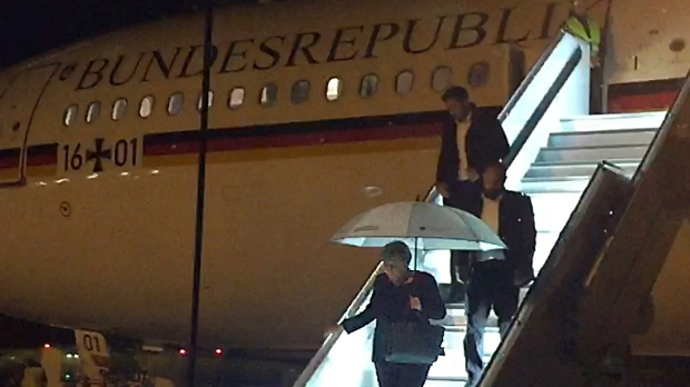 Angela Merkel's Plane Makes Emergency Landing In Cologne