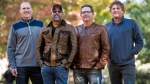 In this Nov. 16, 2018 photo, Jim Sonefeld, from left, Darius Rucker, Dean Felber, and Mark Bryan, of Hootie & the Blowfish, pose for a portrait at the University of South Carolina in Columbia, S.C. (Photo by Sean Rayford/Invision/AP)