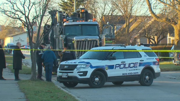 Elderly woman dies after being hit by dump truck in Mississauga