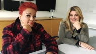 """Kim Fields, left, and Lisa Whelchel pose for a photo in Toronto on Thursday, Dec. 6, 2018. Two stars from """"The Facts of Life"""" say they don't have any direct knowledge of a rumoured reboot, but if it were to happen, it would need to capture the same """"lightning in a bottle"""" of the beloved 1980s sitcom. THE CANADIAN PRESS/Victoria Ahearn"""