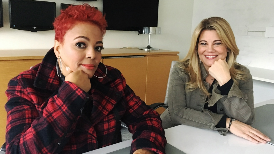 "Kim Fields, left, and Lisa Whelchel pose for a photo in Toronto on Thursday, Dec. 6, 2018. Two stars from ""The Facts of Life"" say they don't have any direct knowledge of a rumoured reboot, but if it were to happen, it would need to capture the same ""lightning in a bottle"" of the beloved 1980s sitcom. THE CANADIAN PRESS/Victoria Ahearn"