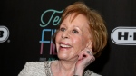 FILE - In this March 10, 2016, file photo, comedian-actress Carol Burnett appears at the 2016 Texas Film Awards at Austin Studios in Austin, Texas. The Golden Globe Awards will introduce a new TV special achievement trophy at next month's telecast and name it after its first recipient, comedic icon Burnett. (Photo by Jack Plunkett/Invision/AP, File)