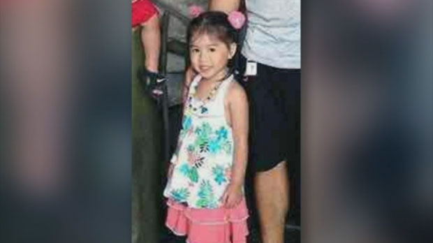 Five-year-old Lux Peyton Gomez, who was killed in a collision, is seen in an photograph provided by family.
