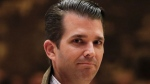 In this Nov. 16, 2016 file photo, Donald Trump Jr., walks from the elevator at Trump Tower in New York. (AP Photo/Carolyn Kaster)