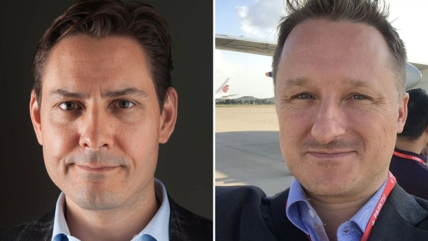 Michael Kovrig, left, Michael Spavor