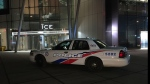 Toronto police at the scene of a shooting at a condo in the city's downtown core on Dec. 14, 2018.