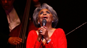 FILE - In this June 29, 2007 file photo, singer Nancy Wilson, performs at her Swingin' 70th Birthday Party at Carnegie Hall in New York. Grammy-winning jazz and pop singer Wilson has died at age 81. Her manager Devra Hall Levy tells The Associated Press late Thursday night, Dec. 13, 2018, that Wilson died peacefully after a long illness at her home in Pioneertown, a California desert community near Joshua Tree National Park. (AP Photo/Rick Maiman, File)