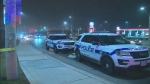Police investigate after a shooting in the area of Derry and McLaughlin roads in Mississauga Sunday December 16, 2018.