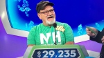 """Lee Norton, of New Hampshire, is seen appearing on """"The Price is Right."""" (Source: Twitter/@JohnDoyle603/CBS)"""