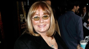 "Penny Marshall arrives at the premiere of ""New Year's Eve"" in Los Angeles on Monday, Dec. 5, 2011. (AP Photo/Matt Sayles)"