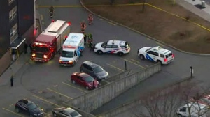 Emergency crews are seen responding to a shooting in the city's Black Creek neighbourhood on Dec. 18, 2018.