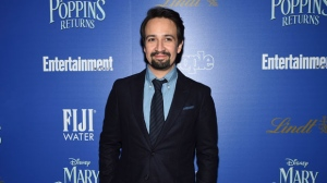 """Actress Lin-Manuel Miranda attends a special screening of Disney's """"Mary Poppins Returns"""", hosted by The Cinema Society, at the SVA Theatre on Monday, Dec. 17, 2018, in New York. (Photo by Evan Agostini/Invision/AP)"""