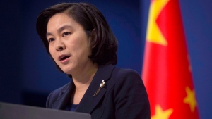 In this Jan. 6, 2016, file photo, Chinese Foreign Ministry spokeswoman Hua Chunying speaks during a briefing at the Chinese Foreign Ministry in Beijing. THE CANADIAN PRESS/AP/Ng Han Guan, File