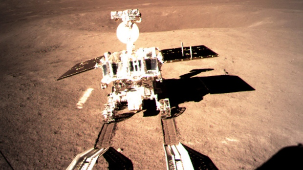 Chinese Moon Rover Making Tracks on Lunar Far Side