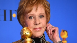 Carol Burnett poses in the press room with the inaugural Carol Burnett Award at the 76th annual Golden Globe Awards at the Beverly Hilton Hotel on Sunday, Jan. 6, 2019, in Beverly Hills, Calif. (Photo by Jordan Strauss/Invision/AP)