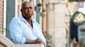 """In this Nov. 2, 2018 file photo, Andre Braugher, a cast member in the television series """"Brooklyn Nine-Nine,"""" poses for a portrait at CBS Radford Studios in Los Angeles. (Photo by Chris Pizzello/Invision/AP)"""