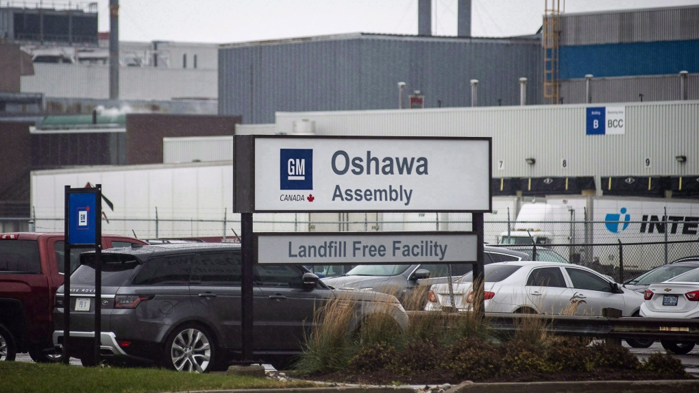 All production stopped at GM Oshawa due to U.S. strike
