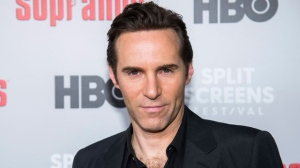 """Alessandro Nivola attends HBO's """"The Sopranos"""" 20th anniversary at the SVA Theatre on Wednesday, Jan. 9, 2019, in New York. (Photo by Charles Sykes/Invision/AP)"""