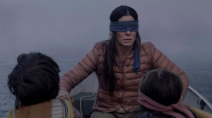 "This file image released by Netflix shows Sandra Bullock in a scene from the film, ""Bird Box.""  (Merrick Morton/Netflix via AP, File)"